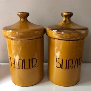 Two large vintage containers